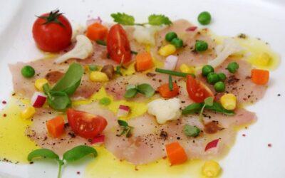 Carpaccio vom Jungkaninchen mit knackigem Gemüse